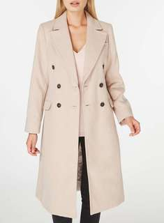 Blush double breasted Trench Coat