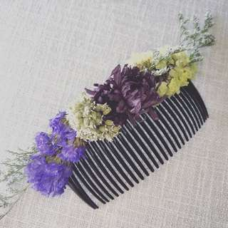 Real Dried Flower Hair Accessory # 1