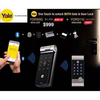 New Yale YDR50G Gate Lock ~ Most suitable for BTO HDB Gate!