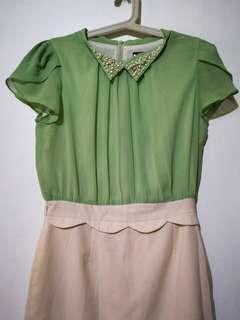 Green corporate dress