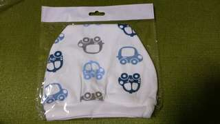 Taxi car design baby hat with hands mittens
