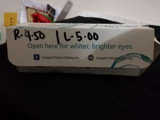 Coopervision Clariti daily comtact lens