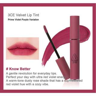 3ce Velvet Lip Tint, Know Better