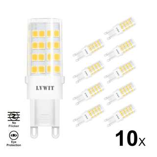 443. G9 LED Light Bulbs, Non Flicker, LVWIT 5W Neutral White