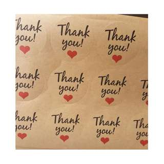 Thank You Stickers (1 packet/120 stickers)