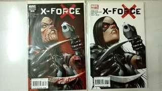 MARVEL COMICS UNCANNY X-FORCE #17 X-23 NORMAL & BLOOD VARIANT COVERS SET