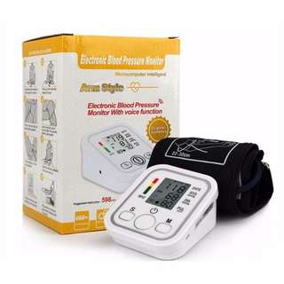 Arm Type Electric Voice Tonometer Blood Pressure Monitor 99 memories with pulse oximeter