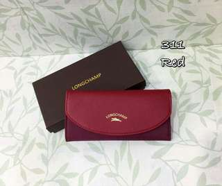 Longchamp Flap Wallet Red