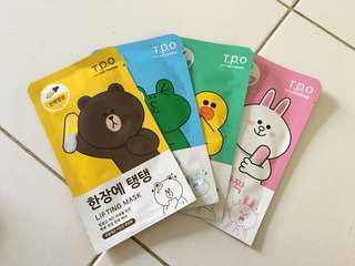 T.P.O WITH LINE FRIEND SHEET MASK