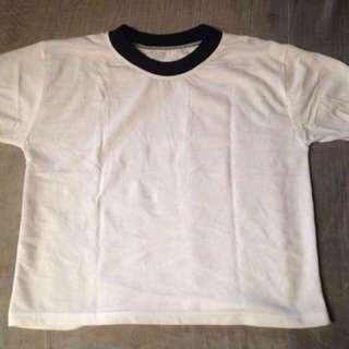 Crop Top (Plain White)