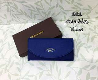 Longchamp Flap Wallet Blue
