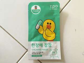 T.P.O WITH LINE FRIEND SHEET MASK CALMING MASK (SALLY)