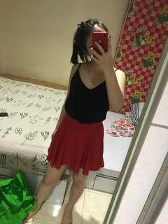Rok celana merah