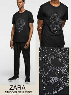 Zara Man Studded Skull Tshirt