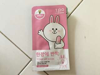 T.P.O WITH LINE FRIEND SHEET MASK TONE UP MASK (CONY)