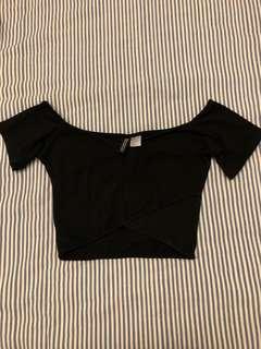 H&M Off shoulder Cropped top