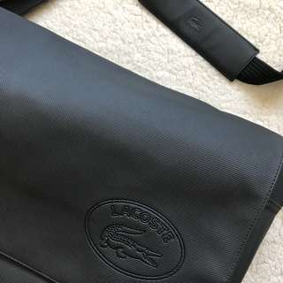 Lacoste Leather Messenger Bag