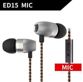 KZ ED15 In Ear Earphone Dynamic And Armature Headphones with Microphone Dual Driver Bass Stereo Earbuds HiFi IEM