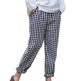 Bershka Pants black and white