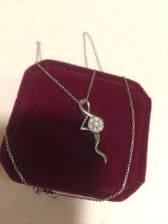 necklace 18kt white gold