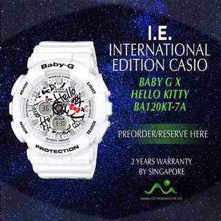 CASIO INTERNATIONAL EDITION BABY G X HELLO KITTY BA120KT-7A LIMITED EDITION