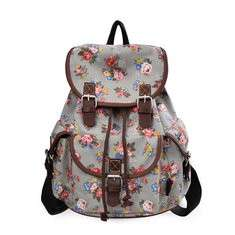 Women 14 Inches Laptop Backpack Printing Backpack