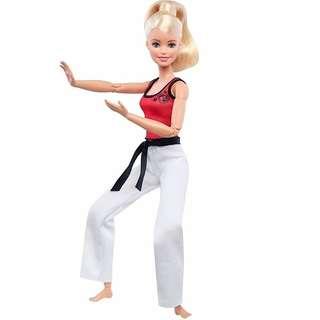 Barbie made to move martial artist
