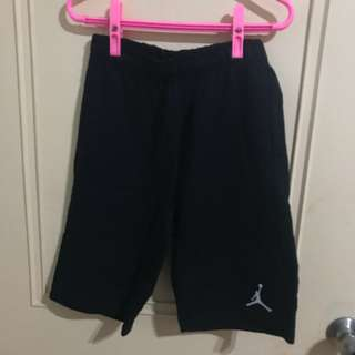 🚚 NIKE ★ JORDAN GIRL PANTS 女版 黑色 口袋 純棉 及膝短褲 (M)