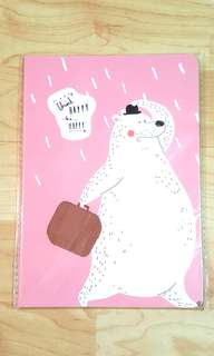 Japanese Big Bear, Pink Cover Notebook