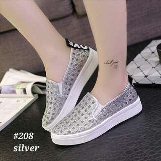 Sneakers gliters shoes fashion korea #208