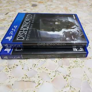Ps4 dishonored 1 & 2 bundle