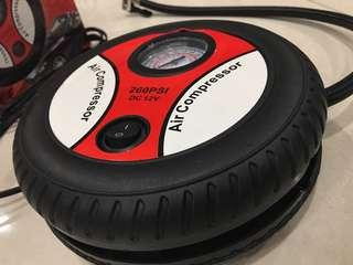 Emergency car air compressor