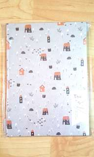 Japanese Little houses, Grey Cover Notebook