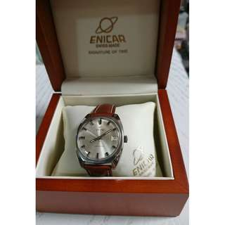 [父親節禮物] 古董瑞士英納格 (Enicar Star Jewels ) 自動日曆男裝錶