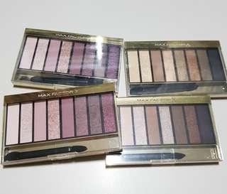 Bn max factor #01 #03 masterpiece nude palette eyeshadow
