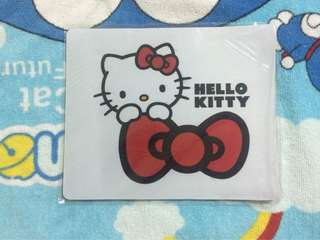 Big red Bow-tie HELLO KITTY Mousepad