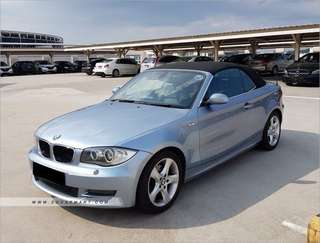 BMW 120i Convertible for long term rental only