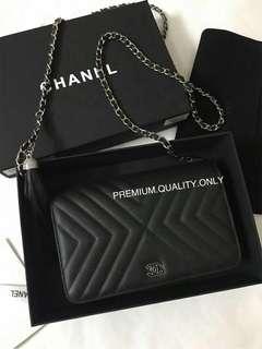 Chanel Lambskin WOC - black