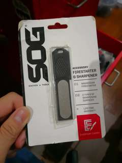 SOG Firestarter and sharpener
