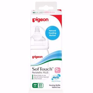 Brand New: Pigeon SofTouch Peristaltic Plus Bottle 160ML (PP)