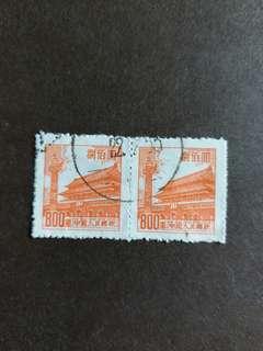 中國郵票早期已銷郵票連票A002