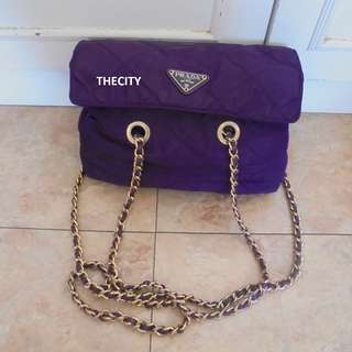 AUTHENTIC PRADA CHAIN SHOULDER BAG - GOOD CONDITION