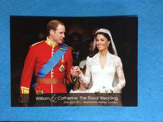 Postcard B Souvenir Postcard To Commemorate The 2011 Royal Wedding