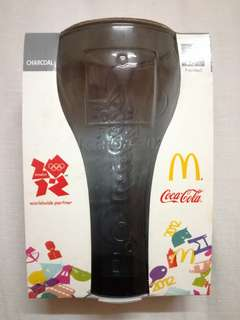 🆕 McD 2012 London Olympic Coca Cola Glass - Charcoal