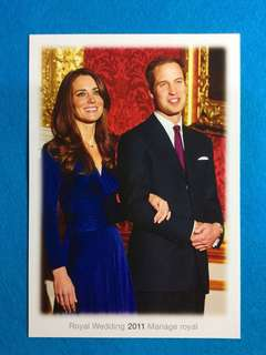 2011 Canada Prepaid Postcard Issued By Canada Post  To Commemorate The 2011 Royal Wedding