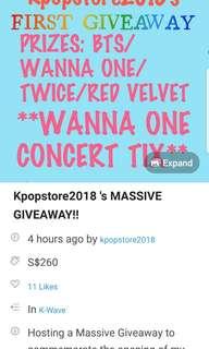 REPOST: kpopstore2018 giveaway
