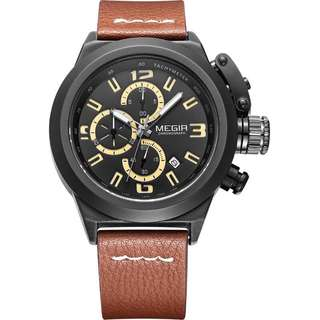 100% new megia stainless steel leather watches, with box, only$ 399,
