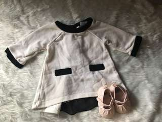 Longsleeve Top + Crib Couture Shoes