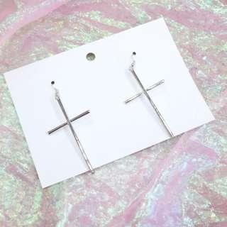 十字架大耳環