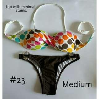 Two Piece Bikini Swimwear Set (top with flaws) - Medium